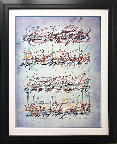 "Marcus Uzilevsky ""Pachobel Kanon"" RARE Framed Art Litho"