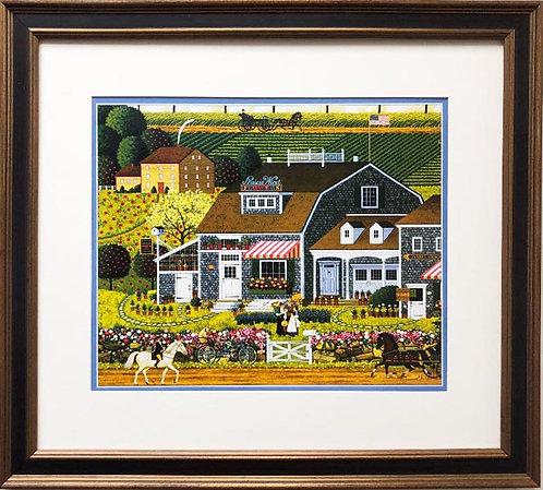 "Charles Wysocki ""Prairie Wind Flowers"" New CUSTOM FRAMED Art"