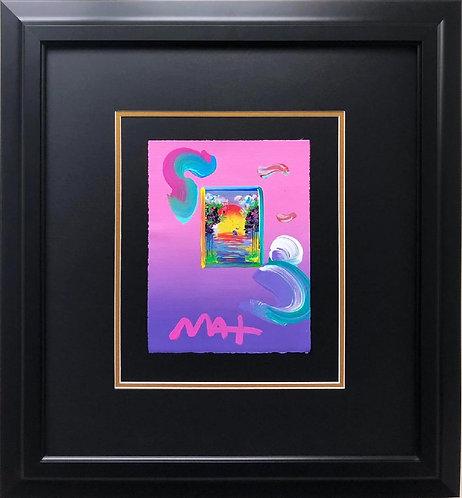 """Peter Max """"Better World"""" CUSTOM FRAMED Hand Signed Pop Art"""