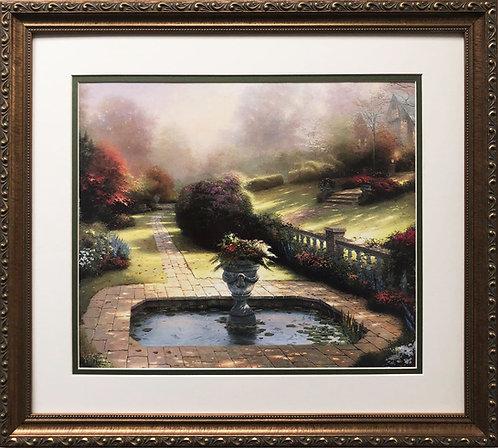 """Thomas Kinkade """"Gardens Beyond Autumn Gate"""""""