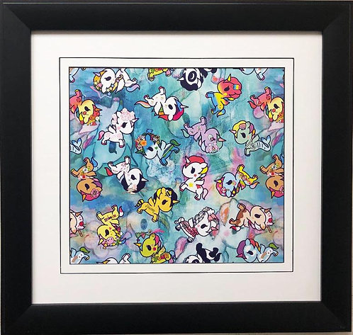 "Tokidoki ""Unicorns"" FRAMED ART"
