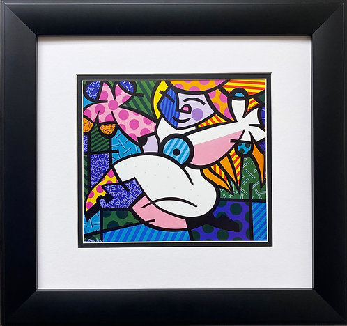 "Romero Britto ""Cheryl Naked"" CUSTOM FRAMED Pop Art"