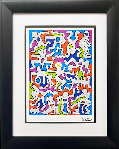 """Keith Haring """"Untitled"""" (Palladium Backdrop) FRAMED Pop Art"""