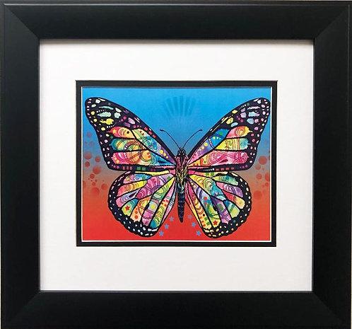 """Dean Russo """"Butterfly"""" CUSTOM FRAMED Street Pop Art"""