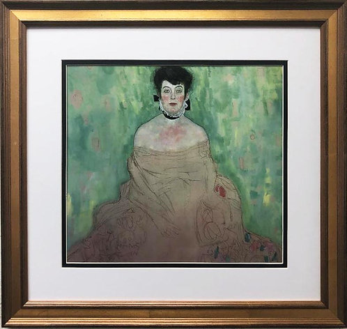 "Gustav Klimt ""Amalie Zuckerkandl"" CUSTOM FRAMED ART"