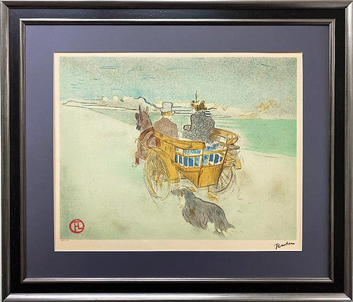 "Toulouse-Lautrec ""La Charrette Anglais- The English Dog Cart Framed Art Limited"