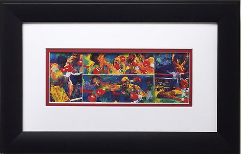 "LeRoy Neiman ""Marvelous Marvin Hagler vs. Thomas Hearns"" CUSTOM FRAMED Print"