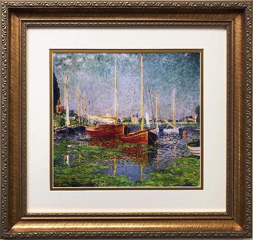 """Claude Monet """"Argenteuil '1875"""" CUSTOM FRAMED Art"""