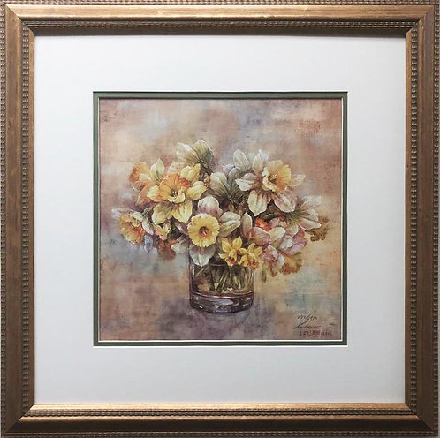 "Lena Liu ""Golden Glory"" Hand Signed Limited Edition Framed Art"