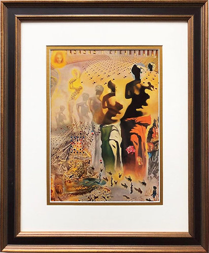 """Salvador Dali """"Hallucinogenous Bullfighter"""" CUSTOM FRAMED ART"""