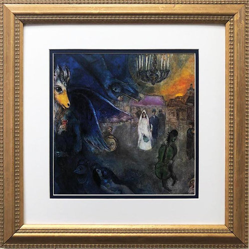 """Marc Chagall """"The Wedding Candles"""" New CUSTOM FRAMED Art Rare Poster"""
