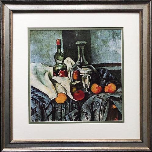 """Paul Cezanne """"Still Life, Peppermint Bottles"""" 1895 Custom Framed Art Print"""