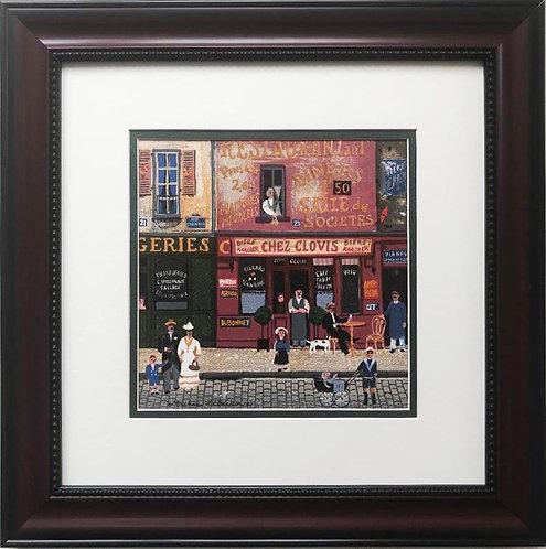 """Michel Delacroix """"Chez Clovis"""" Framed Lithograph Art"""