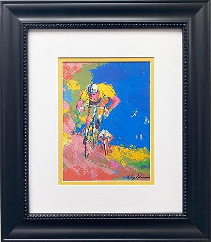 "LeRoy Neiman ""Bikers and Boats"" FRAMED Art Print"