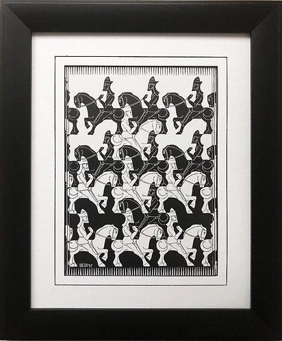 """M.C.Escher """"Regular Division of the Plane"""" CUSTOM FRAMED Art"""