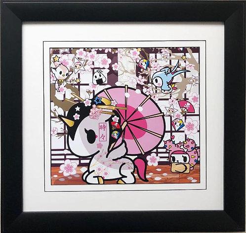 """Tokidoki """"Cherry Blossoms"""" FRAMED ART"""