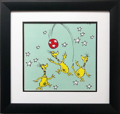 "Dr. Seuss "" Star Bellied Sneetches "" NEW FRAMED ART"