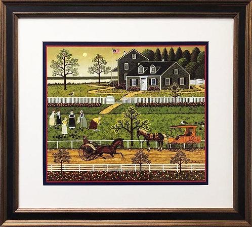 "Charles Wysocki ""Bocce Ladies of Martha's Vineyard"" New Custom FRAMED Art"
