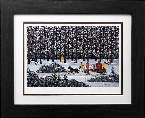 """Jane Wooster Scott """"Dashing through the snow"""" Hand Signed and numbered"""