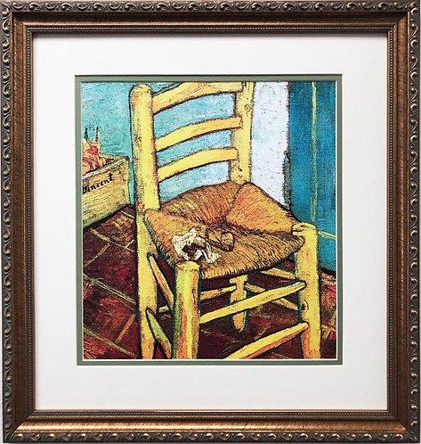 "Vincent Van Gogh ""Van Gogh's Chair"" CUSTOM FRAMED ART"
