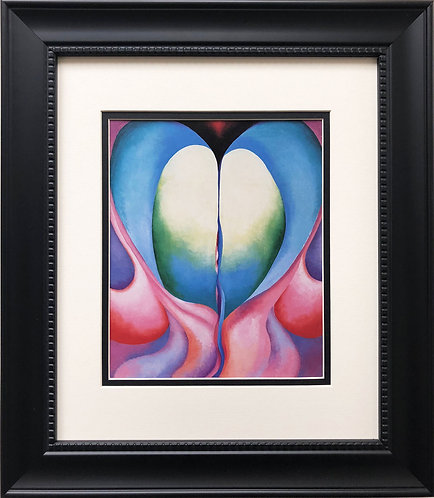 "Georgia O'Keeffe ""Series I- No. 8"" American Art Print Custom Framed New"