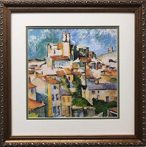 "Paul Cezanne ""Gardanne"" 1886 Custom Framed Art Print"