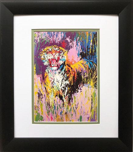"LeRoy Neiman ""Bengal Tiger '""  NEW Framed Art Jungle Animal India Asia"