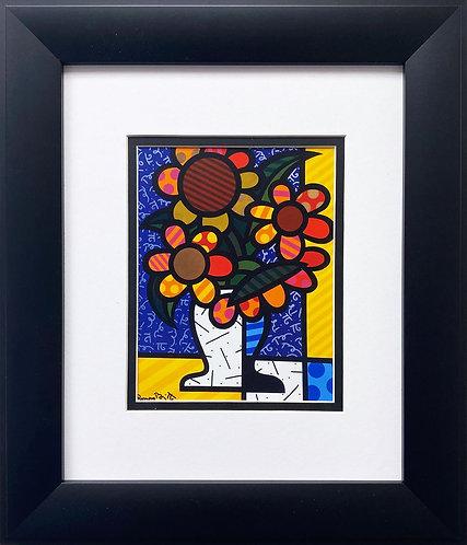 """Romero Britto """"Holland"""" CUSTOM FRAMED Pop Art"""