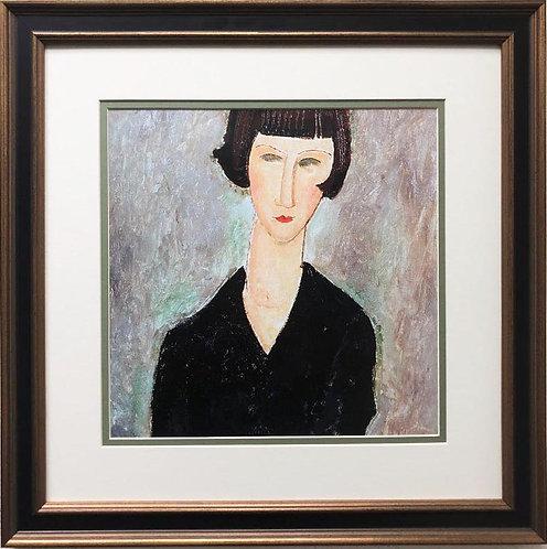 "Amedeo Modigliani ""Woman in Black Dress"" CUSTOM FRAMED ART"