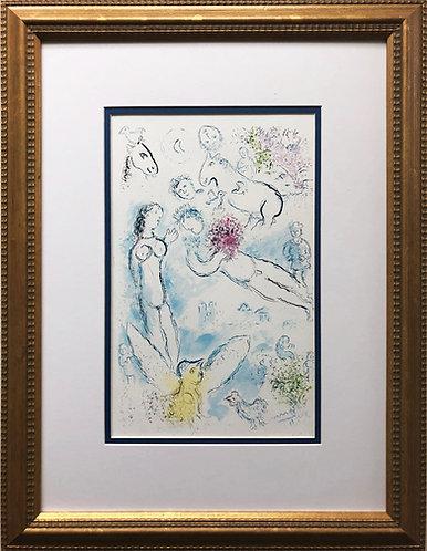 "Marc Chagall ""L' Envolee Magique"" Newly CUSTOM FRAMED Rare Offset Litho"