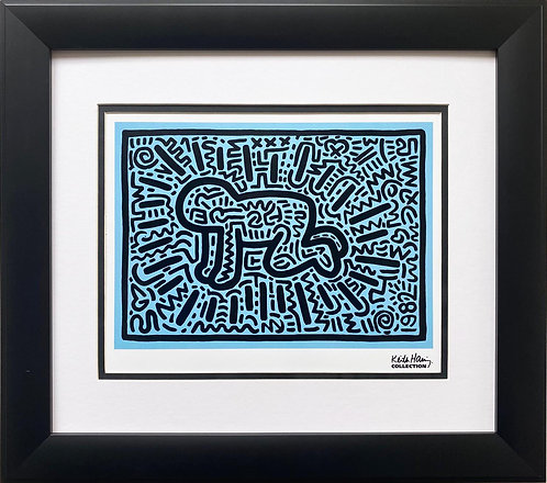 "Keith Haring ""KH18"" CUSTOM FRAMED Pop Art Plate Signed"