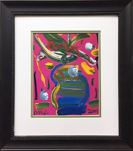 """Peter Max """"Abstract Series - Vase With Flowers"""" (2001)"""