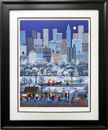 "Jane Wooster Scott ""New York, New York"" FRAMED Hand Signed & # Litho Art"