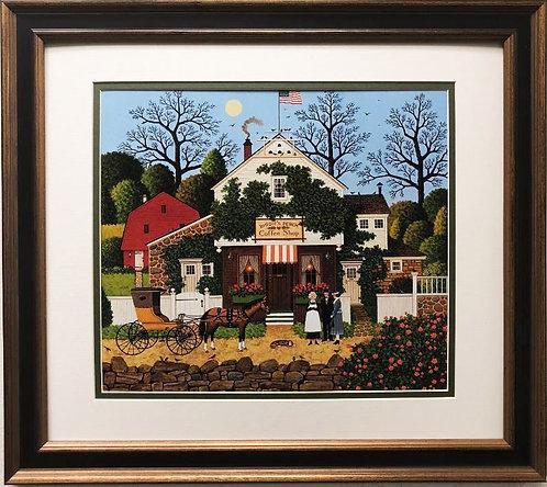 "Charles Wysocki ""Small Talk"" New CUSTOM FRAMED Art"