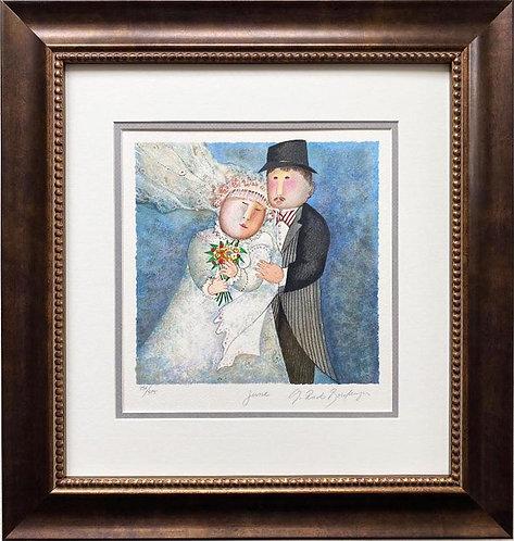 """G.R. Boulanger """"June"""" Signed & # FRAMED ART"""