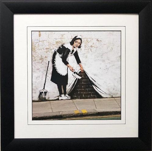 "BANKSY ""Sweep it Under the Carpet"" New FRAMED Art"