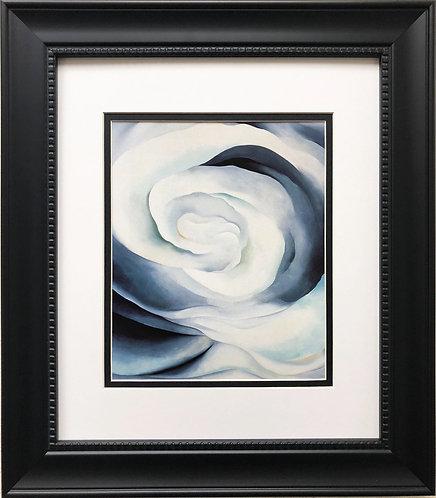 "Georgia O'Keeffe ""Abstraction White Rose"" American Art Print Custom Framed New"