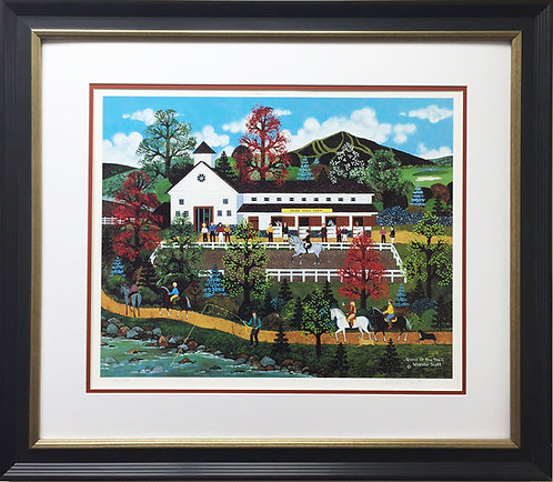 """Jane Wooster Scott """"Queen of the Trail"""" Newly FRAMED Lithograph Hand Signed NY"""