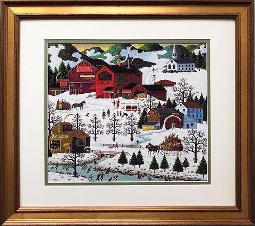 "Charles Wysocki ""Smoke Creek Landing"" New CUSTOM FRAMED Art"
