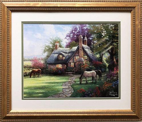 "Thomas Kinkade ""A Perfect Summer Day"" New CUSTOM FRAMED Art"