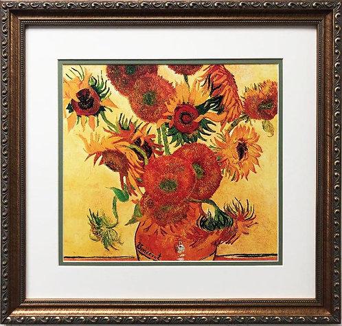 "Vincent Van Gogh ""Sunflowers"" CUSTOM FRAMED ART"
