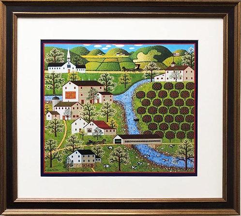"""Charles Wysocki """"Fork River Farm"""" New FRAMED Art"""