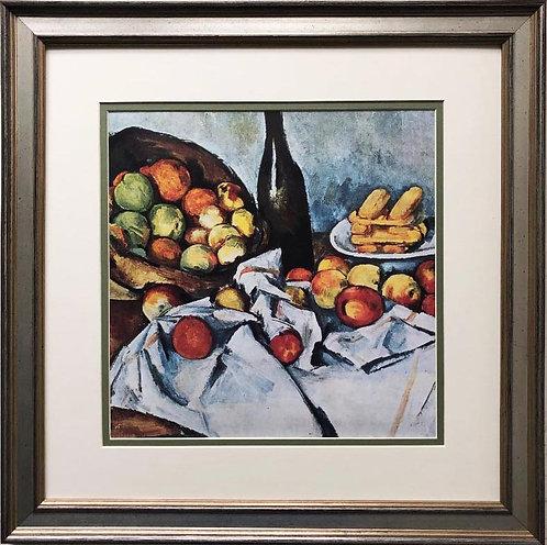 """Paul Cezanne """"Basket of Apples"""" 1895 Custom Framed Art Print"""