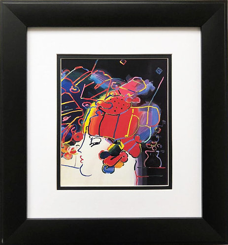 "Peter Max ""Mondrian Lady"" Newly CUSTOM FRAMED Print"