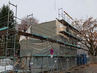 Baufortschritt Haus B und Dach Haus C