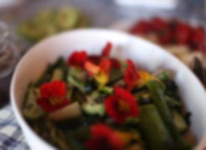 Breakfast at Villa Turk - Latin Flower Salad
