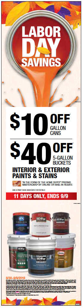 Labor Day Paint Promotion