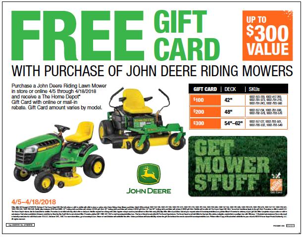John Deer Gift Card