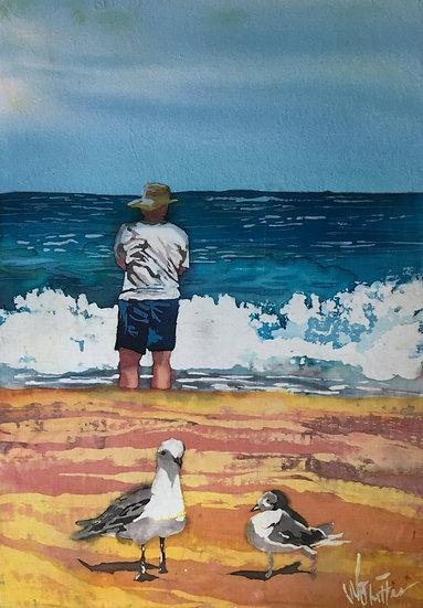 Man and Gulls