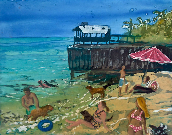 Dog Beach Key West - SOLD - Prints Available